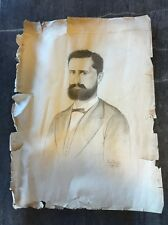 Dessin 19eme Étude Portrait Homme Gabriel Leydet