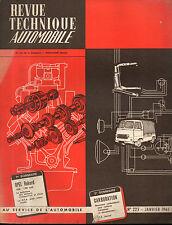 RTA revue technique automobile N°225 OPEL RECKORD 1500 1700 CM3