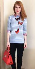NWOT J . Crew Butterfly �� Sweater SZ XS Blue/ White Striped