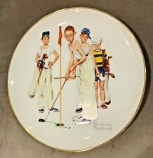 """Norman Rockwell """"Missed"""" Sporting Boys Series Golf Putting Plate"""