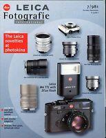 Leica Fotografie International Magazine Oct/Nov 1998 Photokina EX 032317lej