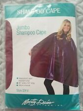 New vintage Betty Dain Burgandy Jumbo Shampoo Cape  - in package