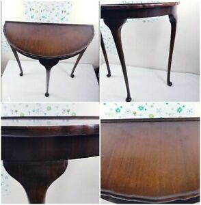 Antique style demi lune / half moon D table - side console table