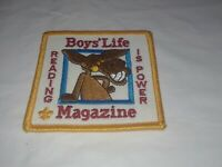 BSA Patch Boy's Life Magazine Reading Is Power