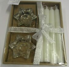 (RO) 6 piece dinner candle set