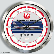JAL JAPAN AIRLINES CONVAIR 880 WALL CLOCK 1960s metal