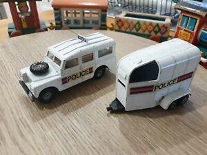 RARE Corgo Toys Gift Set 60001 Police Land Rover and Horse Box