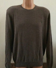 Polo Ralph Lauren Mens L  Large Brown 100% Cashmere Crew Neck Pullover Sweater