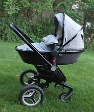 Silver Cross Surf 2 Special Edition Stroller Grey with Bassinet and Toddler Seat