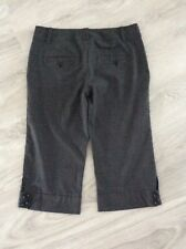 Ally Size 14 Ladies Grey Red Checked Casual Long Shorts