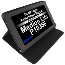Tasche für Medion LifeTab P10356 Book Style Schutz Hülle Tablet Case Schwarz