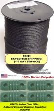 """500' 3/16"""" Dacron Polyester Antenna Support Rope, Prepper, Dipole & 4 Insulators"""