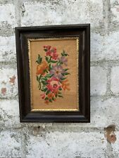 French framed needlepoint tapestry picture Floral Wall Art