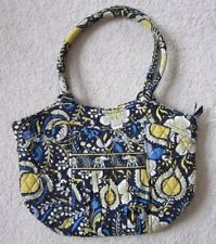 Vera Bradley Ellie Blue Sweetheart Shoulder Bag - Retired - Blue, Yellow & White