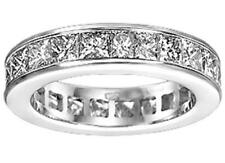 4.00 Ct Tw Princess Diamond Eternity Wedding Band in Channel Setting G Color Vs2