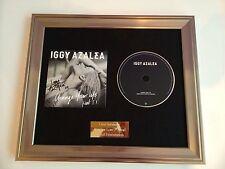 SIGNED/AUTOGRAPHED IGGY AZALEA - CHANGE YOUR LIFE FRAMED CD PRESENTATION.RARE
