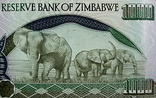 Zimbabwe Banknote 2003 ONE THOUSAND DOLLAR BILL Elephants African Paper Money