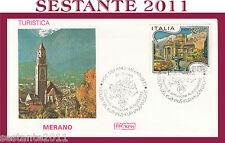 ITALIA FDC ROMA ITALIA TURISTICA MERANO 1986  ANNULLO MERANO H428