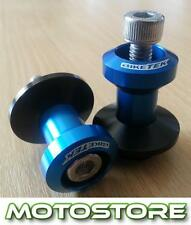 Basculante carretes paddock carretes encaja Suzuki Sv650s Sport 1999-2012 Azul