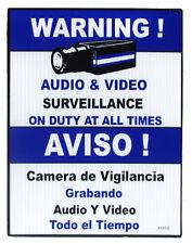 "9"" Blue CCTV Video Surveillance Sign, 10pcs / WS09B"