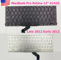 """NEW US KEYBOARD For Apple MacBook Pro Retina 13"""" A1425 Late 2012 Early 2013"""