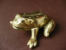 Early 20th c ELPEC Brass Frog Pin Dish / Paperweights