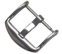 22mm Panatime Polished ARD Watch Buckle - Spring Bar Attachment