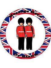 """Novità Personalizzato Londra soldati 7,5 """"wafer commestibile carta CAKE TOPPER"""
