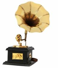 Vintage Theme Antique Collectible Wooden Showpiece Gramophone Phonograph