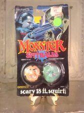 Vintage 1989 Entertech MONSTER SPITBALLS Dracula Frankenstein Toy Squirt ball