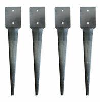 12 x Bodenhülsen 101x101 Erdanker 75cm Einschlagbodenhülse  Pfostenhalter Hülse