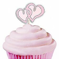 Wilton 24 Pieces Cupcake Picks Sweetheart Heart Party Cake Toppers Decoration