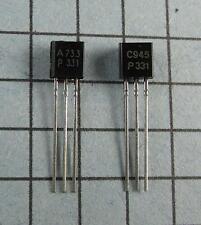 2SA733-P & 2SC945-P, A733 / C945, TO-92 : 5pcs each, per Lot