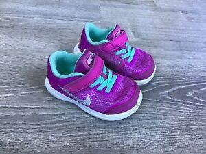 nike flex 2016 run toddler sneakers size 6C purple girls slip on 834285-500