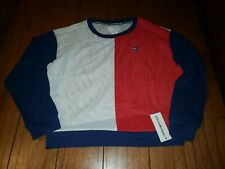 NWT $49.50 Tommy Hilfiger Sport Women's Mesh Top Navy Blue White & Red Jersey M