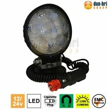 DBG 12V/24V 1200 lumens 18W Round LED Flood Work Lamp Light Magnetic Truck Van