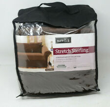 """Sure Fit Stretch Sterling Sofa 74""""-96"""" Chocolate"""