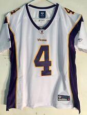NEW Reebok Women's Premier NFL Jersey Minn Vikings Brett Favre White SZ L NWOT