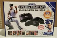 Sega Genesis Classic Game Console, 80 Built In Games 2 Wireless Controllers +Box