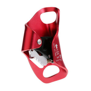 Climbing Chest Ascender Abdominal Vertical Rope Climbing Fall Protection Red