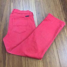LUCKY BRAND Womens Sz 10 /30 Sweet N Crop Coral Color Capri Cropped Denim Jean
