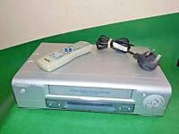 PHILIPS VR130 Video Cassette Recorder VHS Smart VCR Silver Quality Slim +Remote