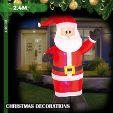 Christmas Lights 2.4M LED Inflatable Santa Claus Xmas Outdoor Garden Decoration