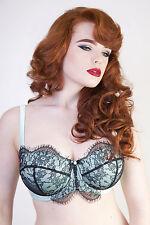 Playful Promises Cordelia Absinthe Bra 32G Mint Green Black Lace PPFB103A