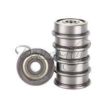 5PCS F624ZZ (4x13x5mm) Miniature Metal Shielded (Flanged) PRECISION Ball Bearing