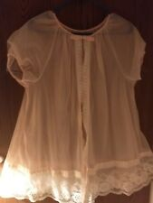 Vintage Lorraine Pink 2 Layer Peignoir Robe Size Small