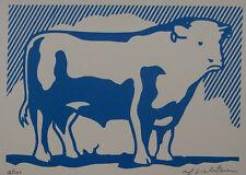 Limited POP ART edition silkscreen serigraph Bull signed Roy Lichtenstein w DOCS