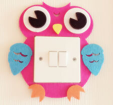 Super Cute 3D Owl Light Switch Wall Sticker Kids Boys Girls Nursery Bedroom