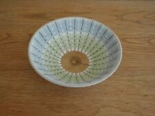 "Vintage Denby Burlington Rainbow Stone Ware 7"" bowl  1950s. Ribbed  Design"