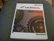 Honda TRX450R/ER NEW OEM 2004-2014 Offical Service manual #61HP108 Updated